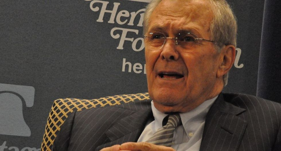 Donald Rumsfeld denies he thought democracy in Iraq was 'realistic' goal