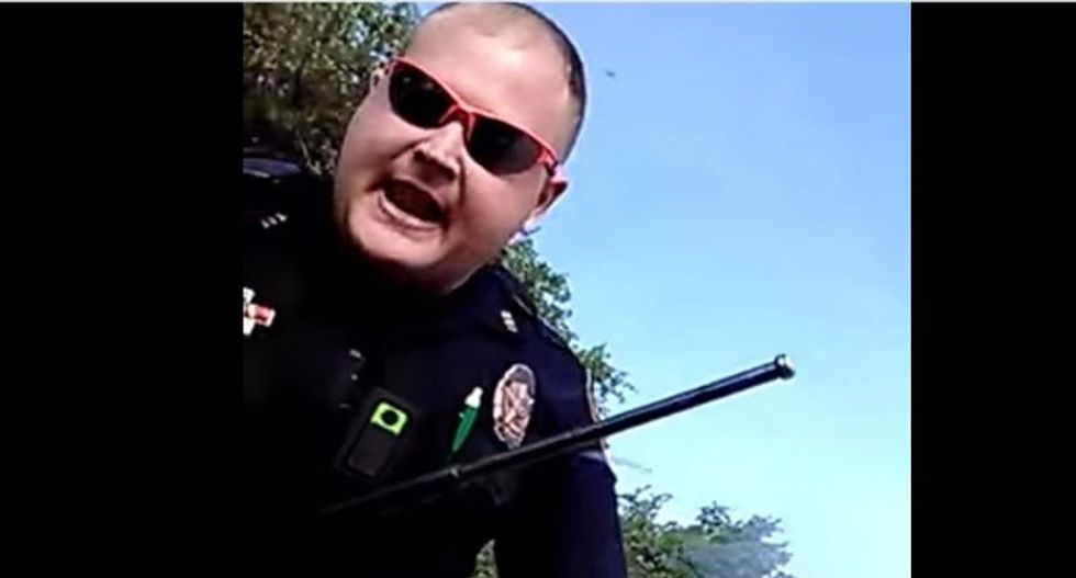 WATCH: Frustrated Texas cop smashes car window after driver insists speed limit is only a suggestion