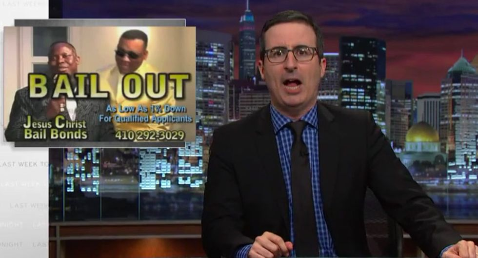 John Oliver: The bail system destroys the poor and turns bounty hunters into reality show 'vigilantes'