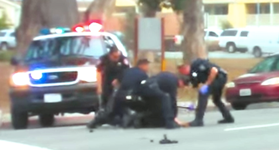 California suspect beaten by police files claim against city