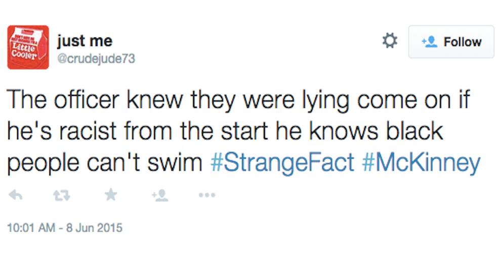 'Black people can't swim': Twitter racists react to disturbing McKinney police video