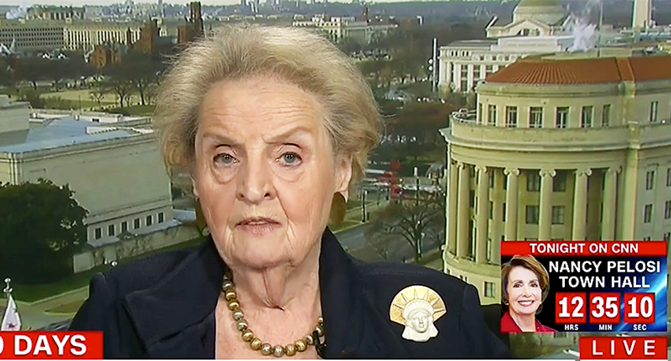 'The Statue of Liberty is weeping': Madeleine Albright slams Trump official for rewriting patriotic poem