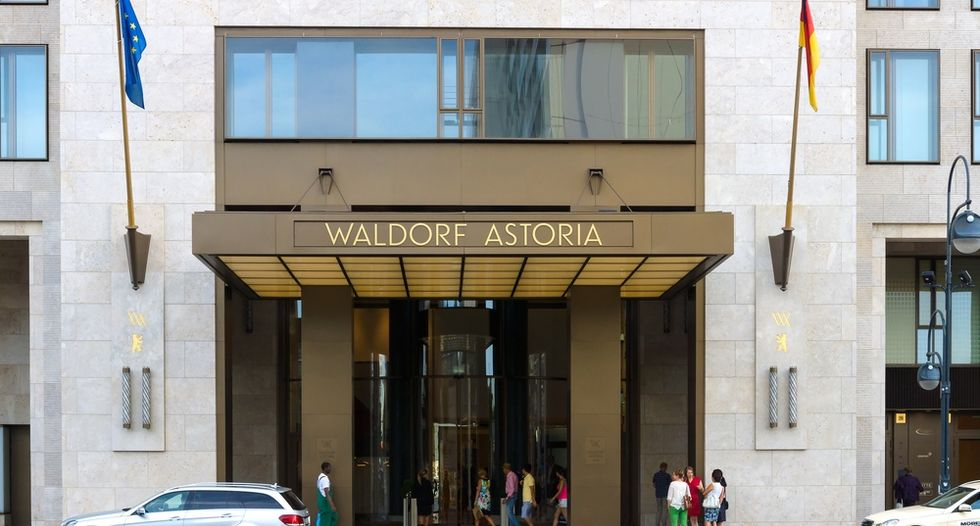 Two charged in shooting mishap at New York's Waldorf Astoria