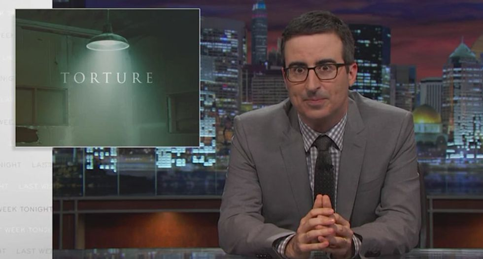 John Oliver and Helen Mirren destroy Americans' fairy-tale belief in torture with horrifying children's tales