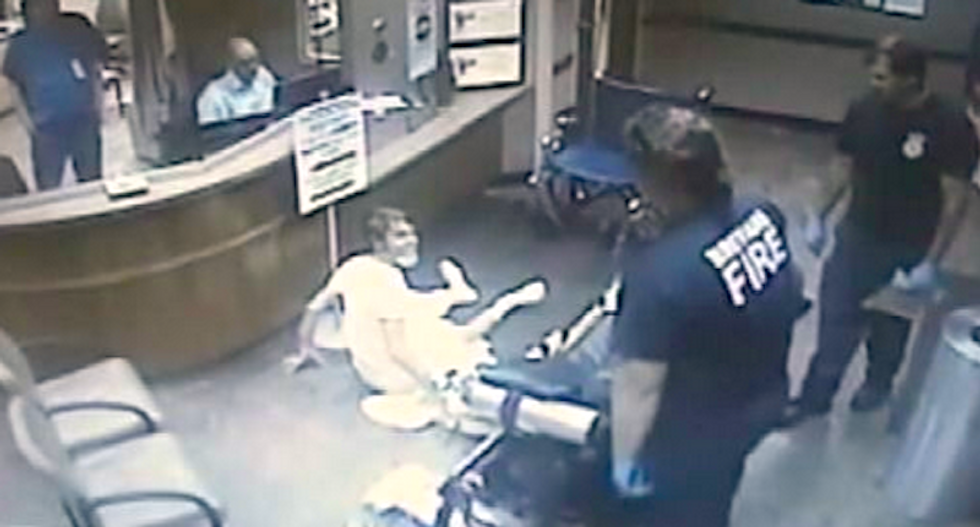 WATCH: Enraged Florida paramedic flings cancer patient to floor because he would not get off stretcher