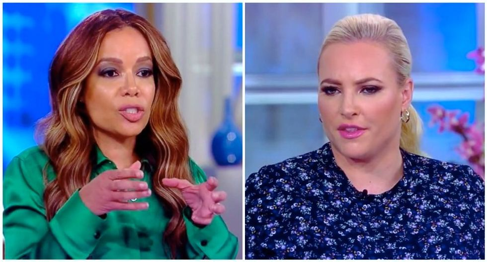 The View's Meghan McCain gets schooled after blaming 'incendiary' reporters for Trump's coronavirus briefing meltdown