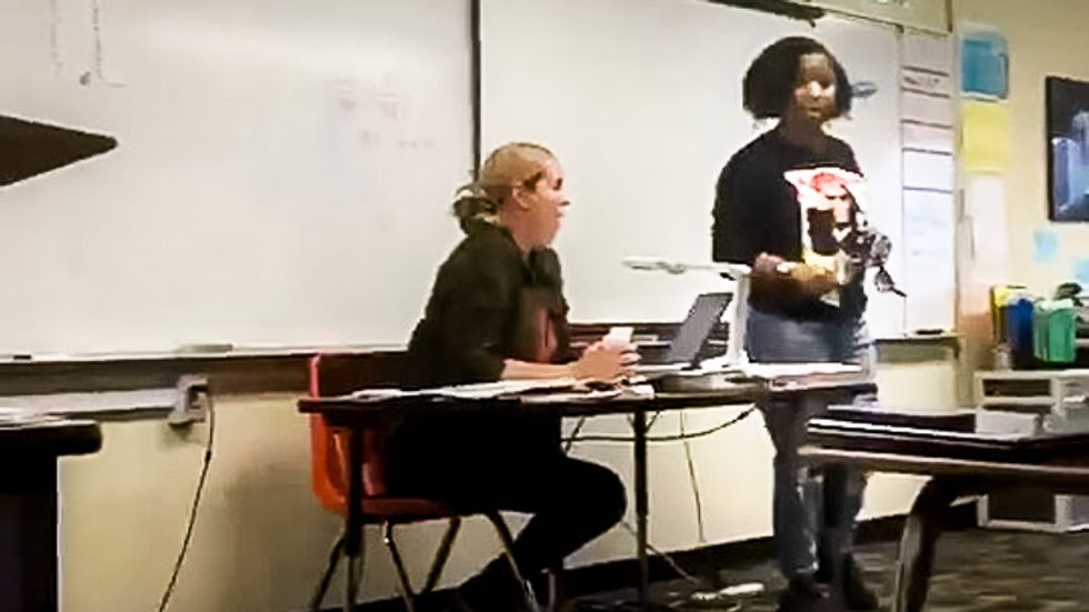 Video shows black mom threatening entire classroom with 'ass whoopins for free' for bullying her daughter