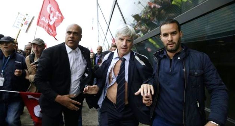 Air France exec 'almost lynched' in job cut protests