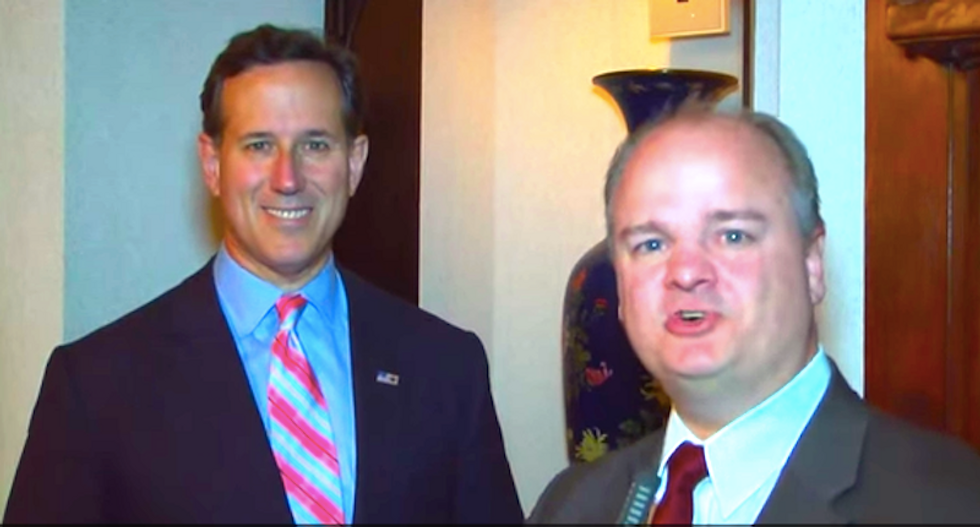 Rick Santorum tells demon-obsessed lawmaker that Iranians can't be trusted because they're theocrats