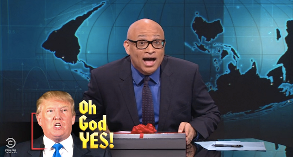 Larry Wilmore says Donald Trump's ridiculous presidential bid is 'a gift from the comedy gods'