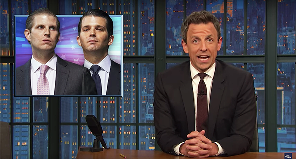Here's why Seth Meyers thinks Trump's kids are probably vampires