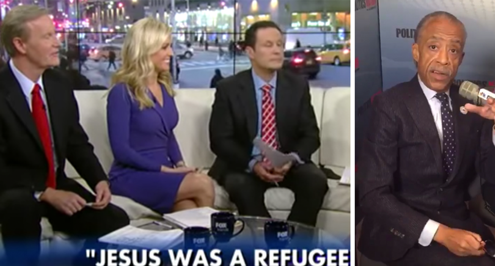 Rev. Al Sharpton schools 'Fox and Friends' hosts who mocked him for calling Jesus a refugee