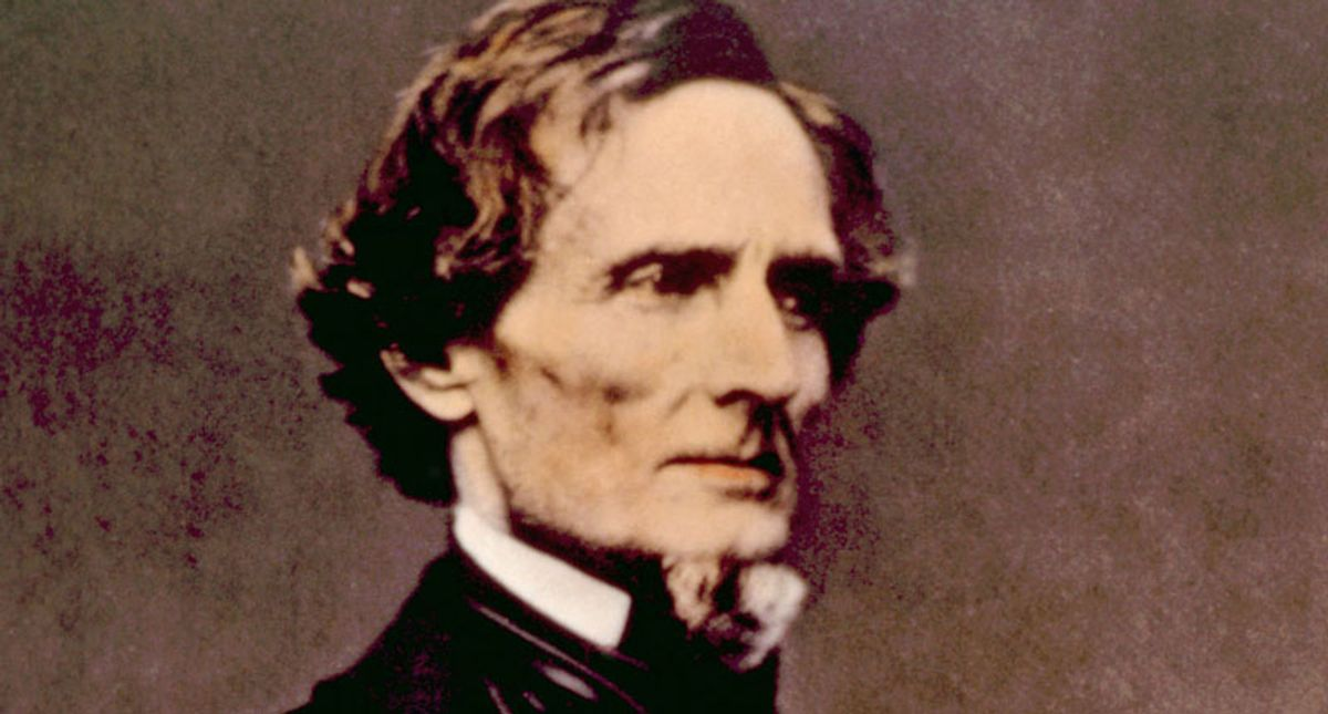 'White Lies Matter' group says Jefferson Davis chair will become a toilet unless demands are met: report