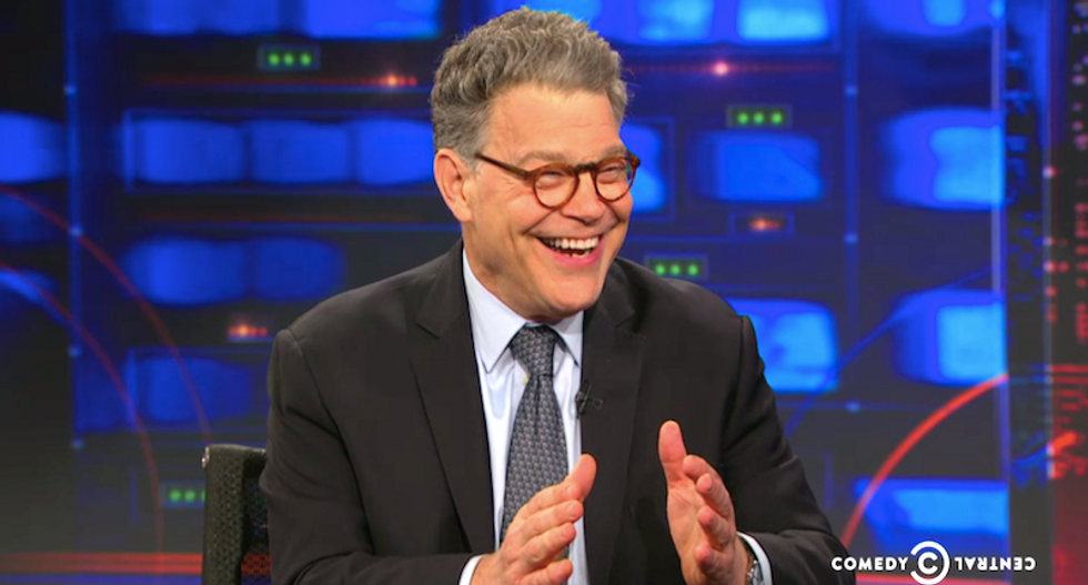 'What did the president know, and when did his son-in-law tell him?': Al Franken jabs Trump over investigations