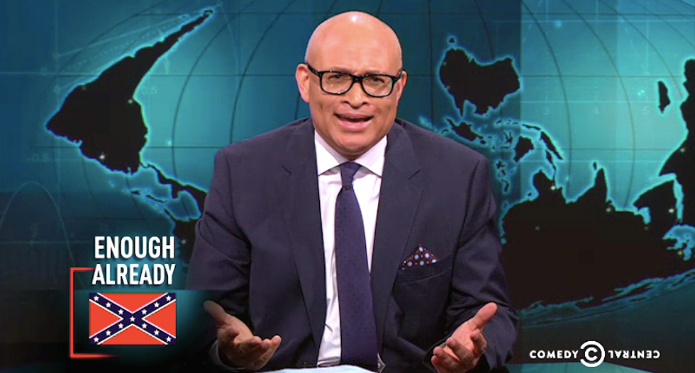 Larry Wilmore wants Confederate flag down now: 'South Carolina, it sounds like you're trying to f*ck me'
