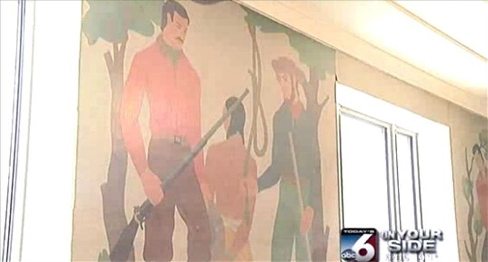 Univ. of Idaho moves to cover up 'ahistorical' mural depicting lynching of Native American
