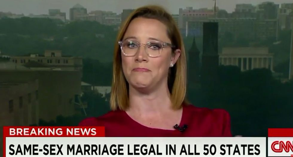 Tearful conservative pundit begs GOP to accept gays: 'They're not pariahs — they're patriots'
