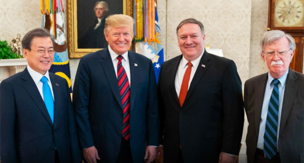 The most dangerous man in the world is sitting at Trump's right hand