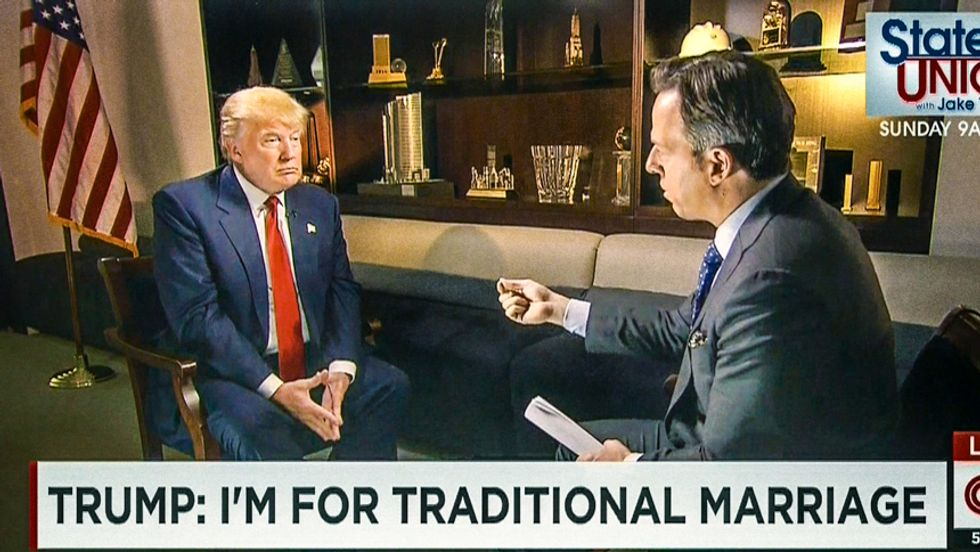 CNN host calls out Donald Trump: 'What's traditional about being married three times?'
