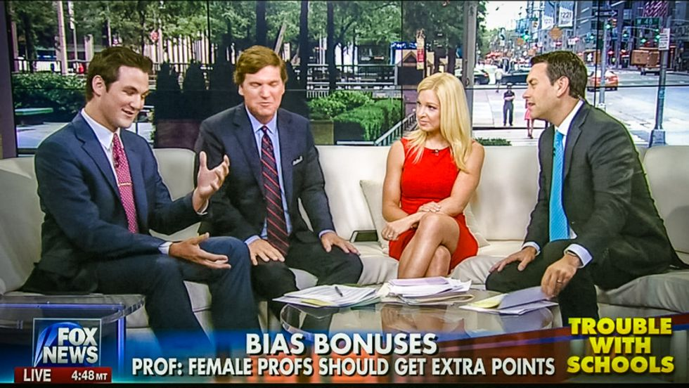 Fox host: 'Insane' to correct college gender bias against women just because of a 'biological accident'