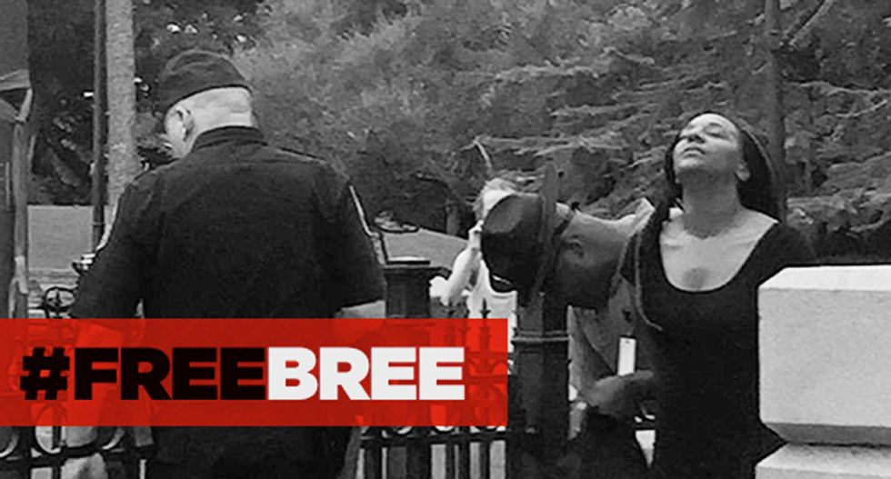#FreeBree fundraiser fills with cash to support black woman arrested for pulling Confederate flag down
