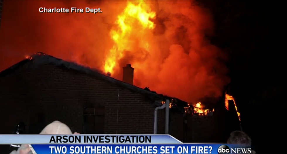 Who's burning black churches? Arsonists hit at least 3 Southern congregations in the last 7 days