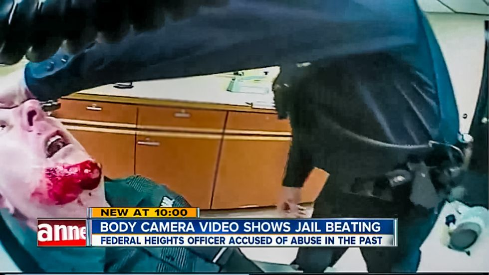 'We're going to need medical': Colorado officer reminds fellow cop of body cam but he beats jailed man anyway