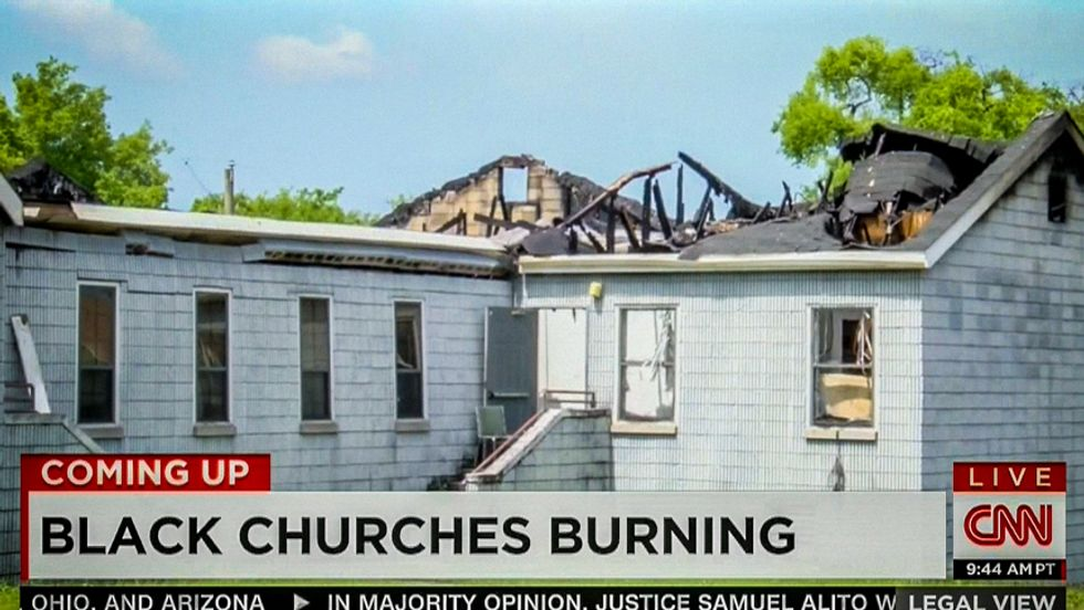 CNN finally notices string of black church fires: 'Is it a hate crime' or 'is it bad wiring?'