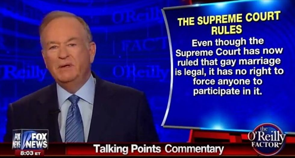 Bill O'Reilly rips Stephen Colbert: Mocking Justice Scalia will only alienate 'traditional Americans'