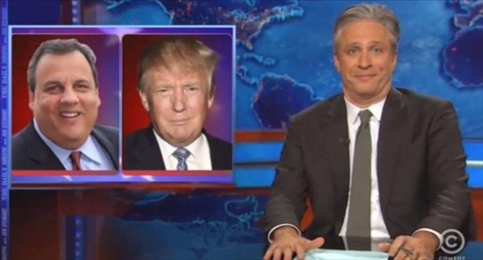 Jon Stewart mocks Chris Christie: You're not even beating Trump in the GOP's 'egomaniac primary'