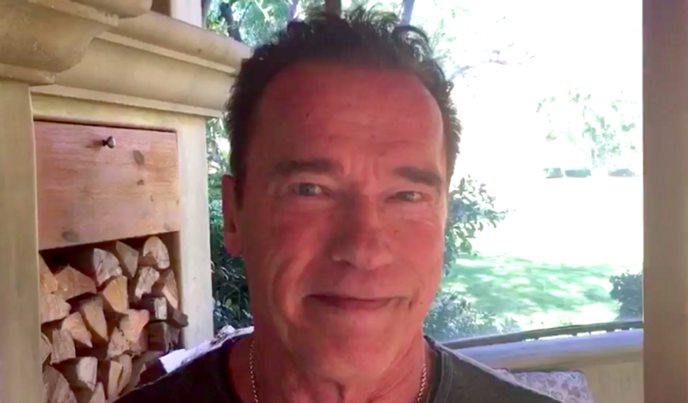 Arnold Schwarzenegger hilariously jabs Trump over petty 'Apprentice' boasts at prayer event