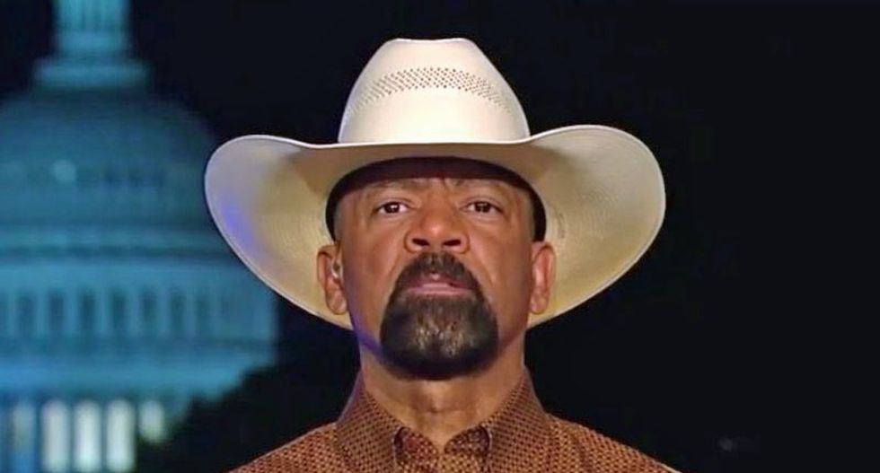 Trump-loving 'Sheriff Clarke' implies Joe Biden used to get raped in high school showers