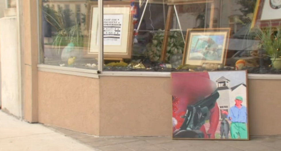 Police chief orders small Iowa art gallery to hide woman's nipples in painting after town outcry