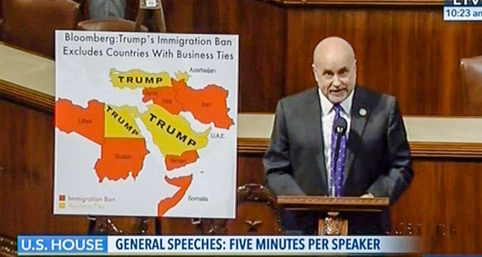Democrat's House floor speech invokes 'power of impeachment' over Trump's Middle East treachery