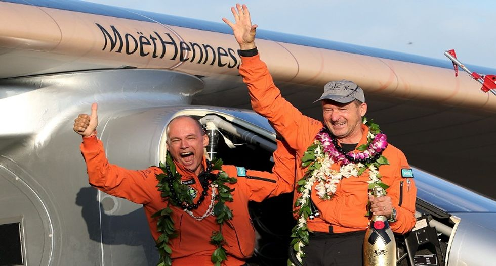 Solar-powered plane lands in Hawaii after flying non-stop from Japan, setting record