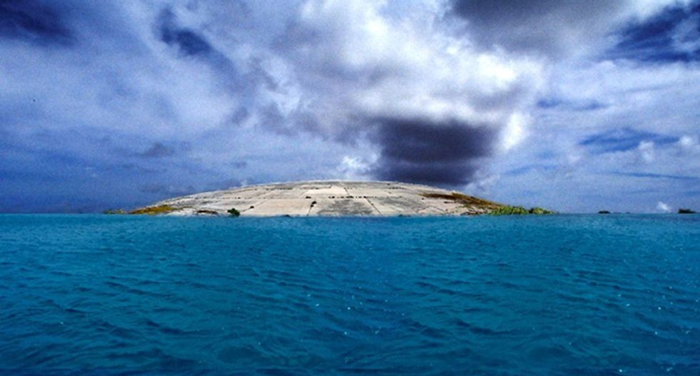 This dome in the Pacific houses tons of radioactive waste -- and it's leaking
