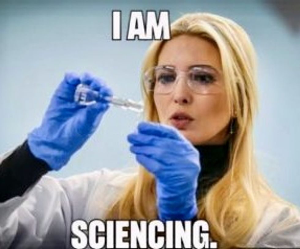 Princess Ivanka wanted to be a scientist, so the internet taught her how photos blow up in your face
