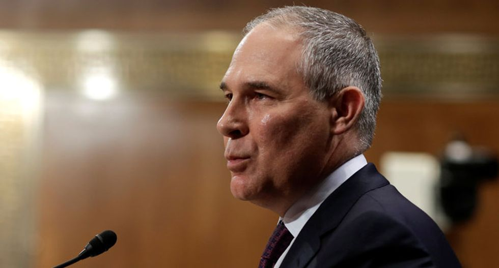 US environmental agency chief says humans contribute to global warming