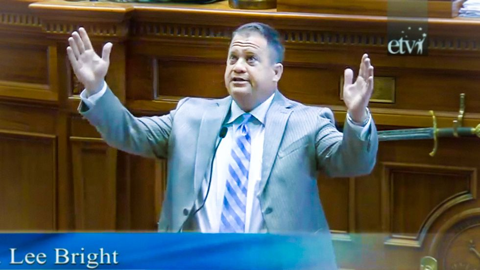 'The devil is taking control': Watch SC senator derail Confederate flag debate with insane gay marriage rant