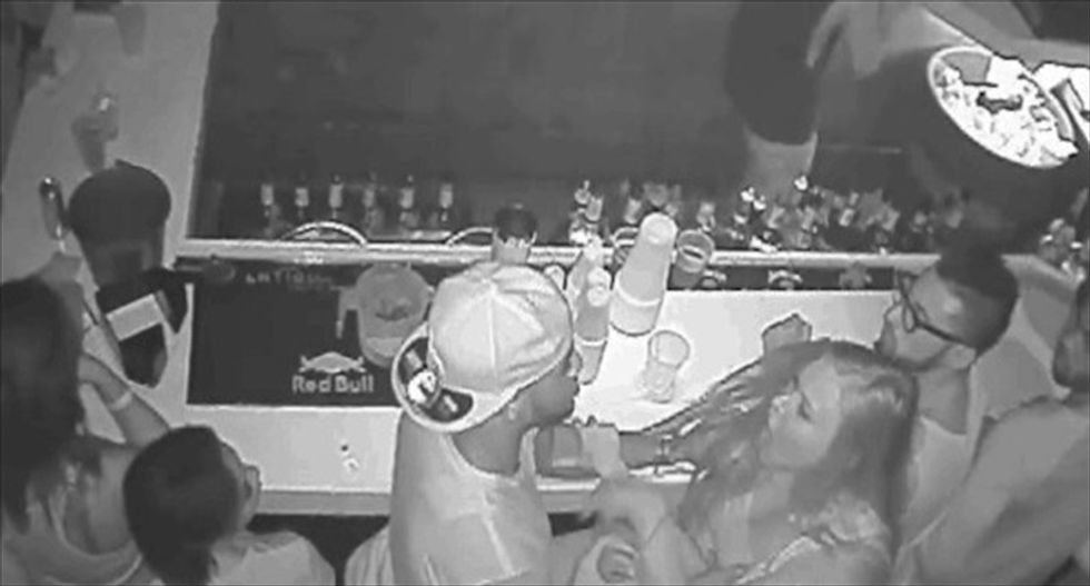 Security camera catches 19-year-old Florida State quarterback punching woman at a bar