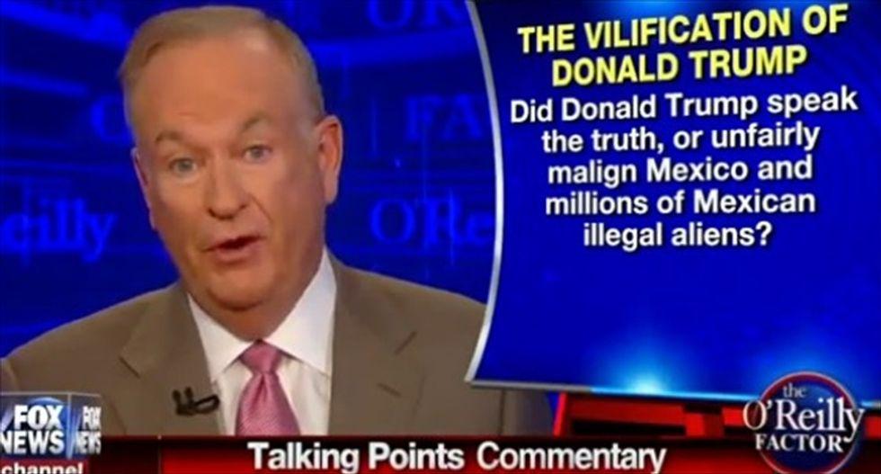 Bill O'Reilly uses fatal San Francisco shooting to defend Donald Trump's immigration rhetoric