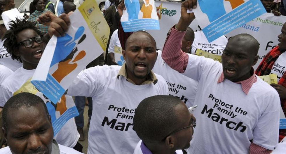 Kenya protesters warn Obama not to bring up gay rights in visit