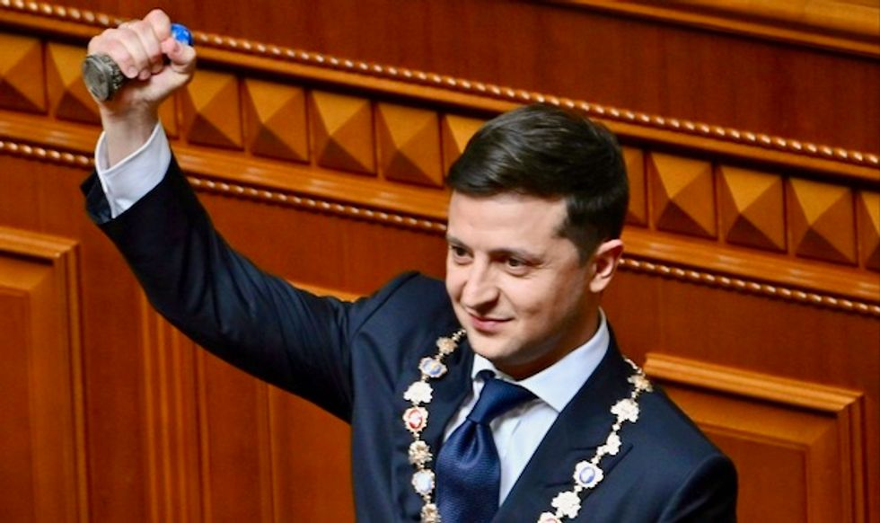 Backlash in Ukraine as president says beautiful women 'our brand'