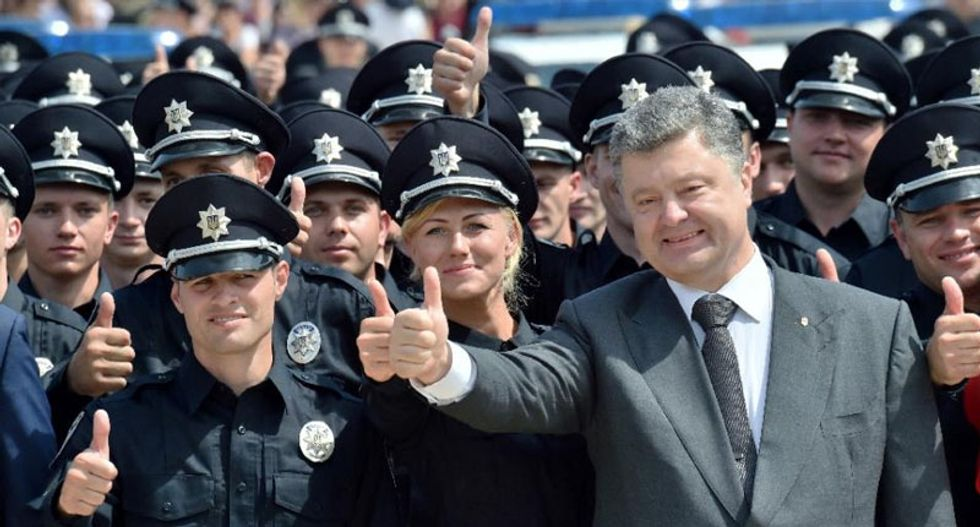 Ukraine tackles graft with new US-trained police force