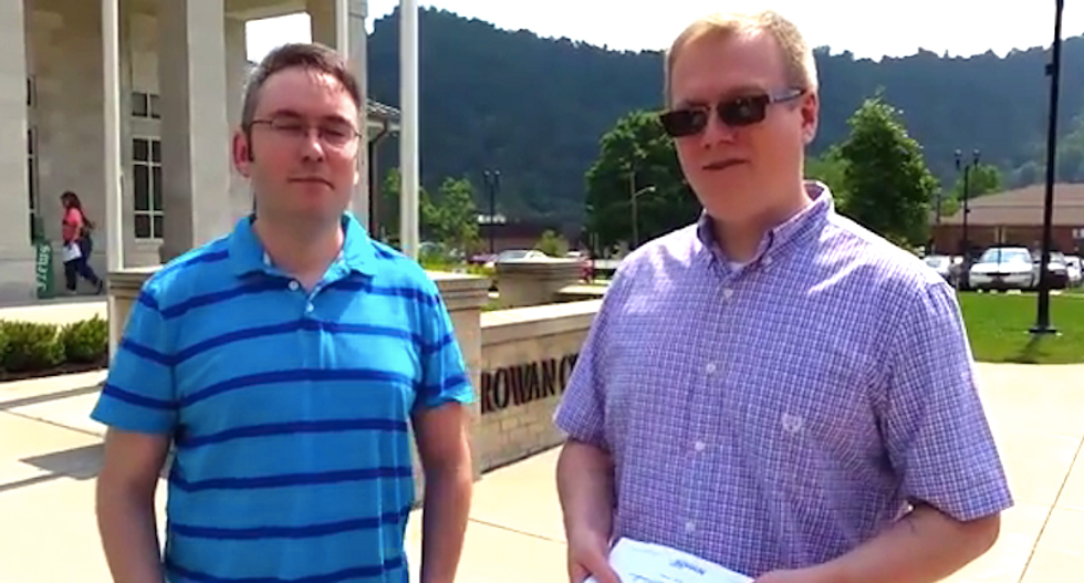 WATCH: Gay Kentucky couple insulted and abused by county workers when they ask for a marriage license
