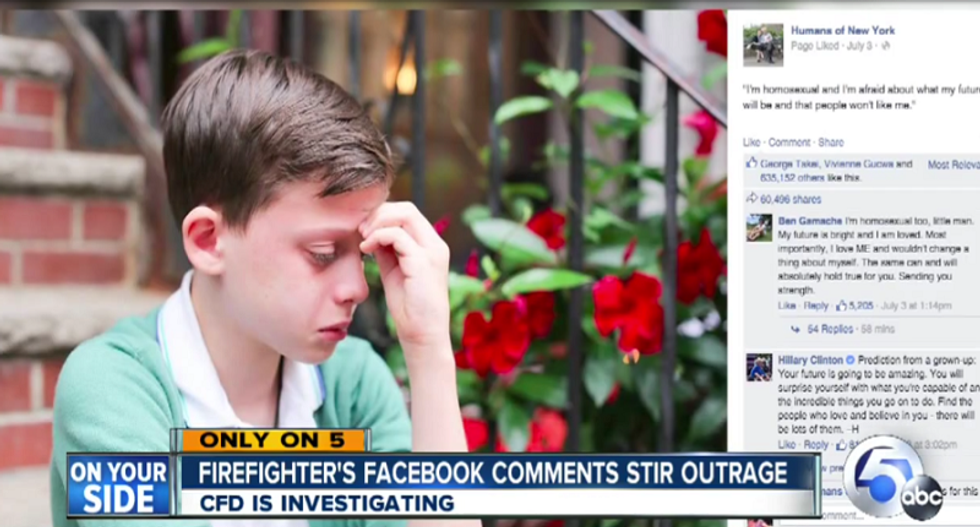 Ohio firefighter defends hateful rant against 'delusional' gay child: 'This is Facebook'