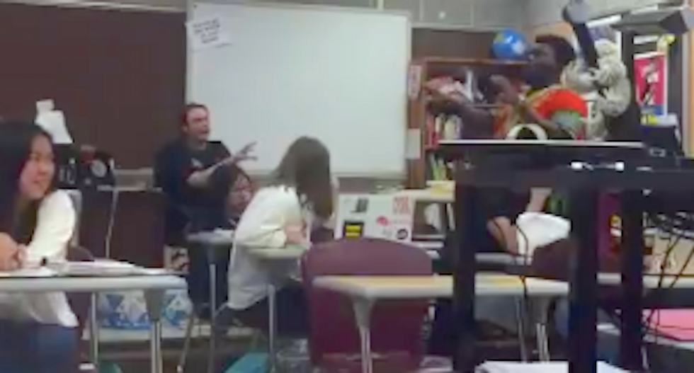 'It's f*cking racist': Watch a black teen confront his white teacher who insists on using the N-word