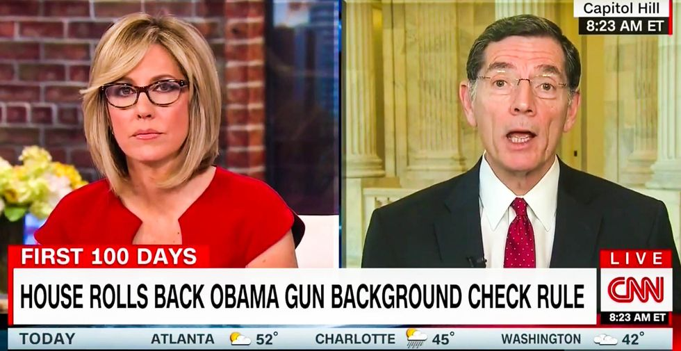 Republican struggles to explain why GOP just voted to let severely mentally ill people get guns