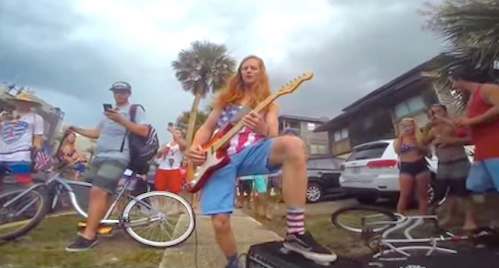 WATCH: Florida cops arrest flag-wearing Ted Nugent fan after street performance of 'Star-Spangled Banner'