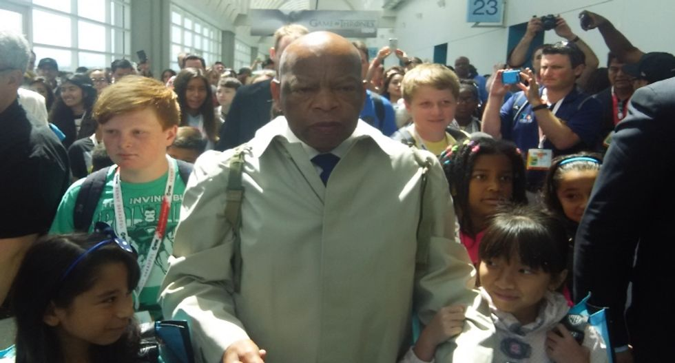 Rep. John Lewis wows Comic-Con with graphic novel that brings civil rights heroics to life